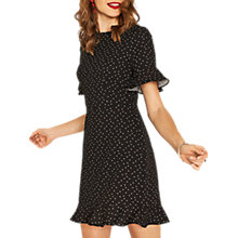 Buy Oasis Polka Dot Ruffle Dress, Multi Online at johnlewis.com