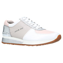 Buy MICHAEL Michael Kors Allie Wrap Trainers, Pale Pink Online at johnlewis.com