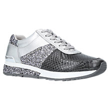 Buy MICHAEL Michael Kors Allie Wrap Trainers, Grey Online at johnlewis.com