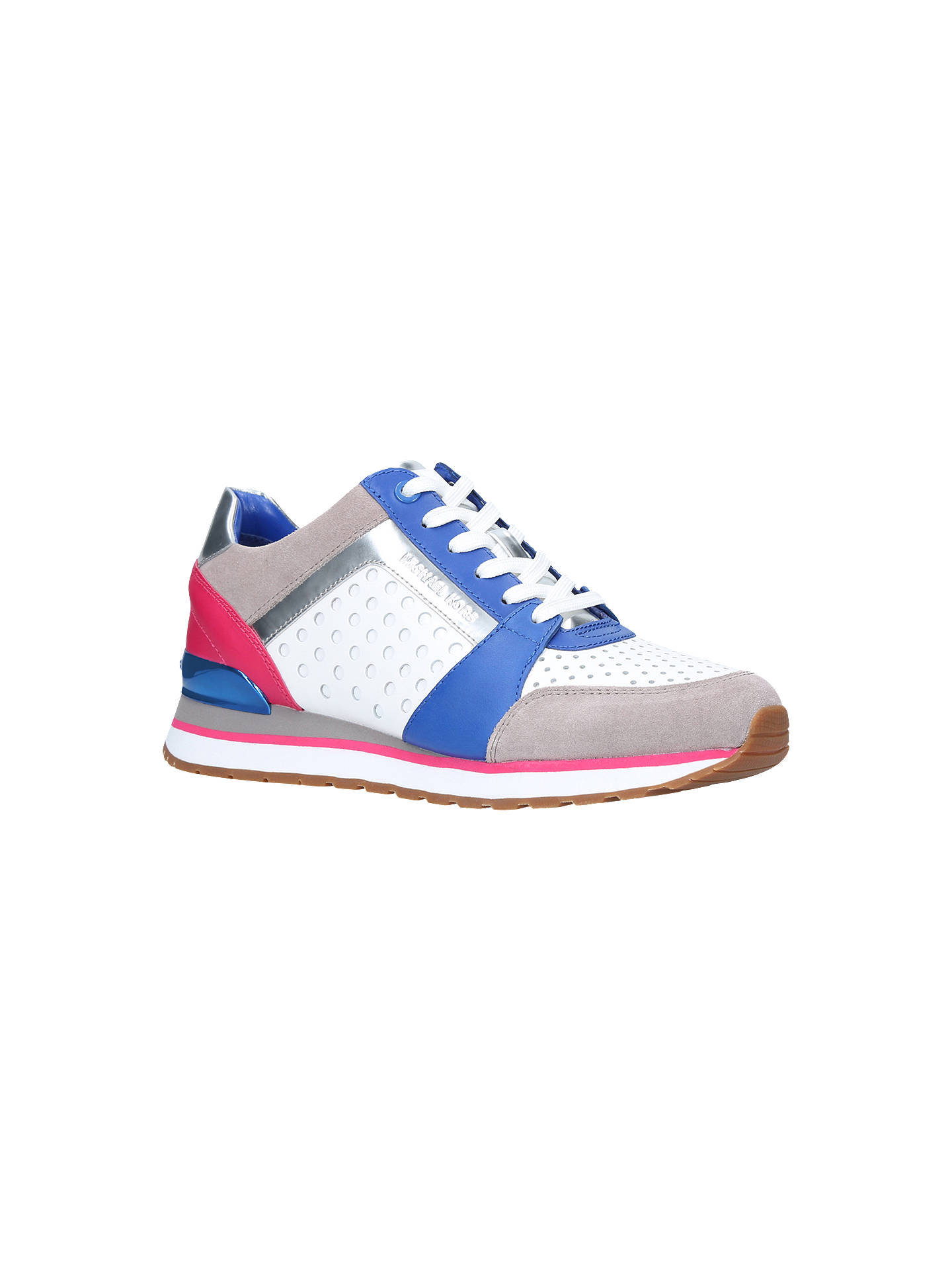 8debfe8164f MICHAEL Michael Kors Billie Perforated Lace Up Trainers, White ...