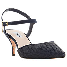 Buy Dune Christyne Two Part Sandals, Navy Suede Online at johnlewis.com