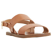 Buy Dune Lowpez Double Strap Leather Sandals Online at johnlewis.com