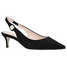Buy Carvela Atol Slingback Court Shoes, Black Suede Online at johnlewis.com