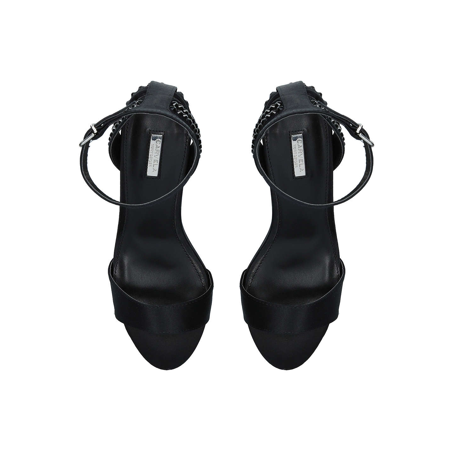 BuyCarvela Gianni 2 Studded Block Heeled Sandals, Black, 3 Online at johnlewis.com
