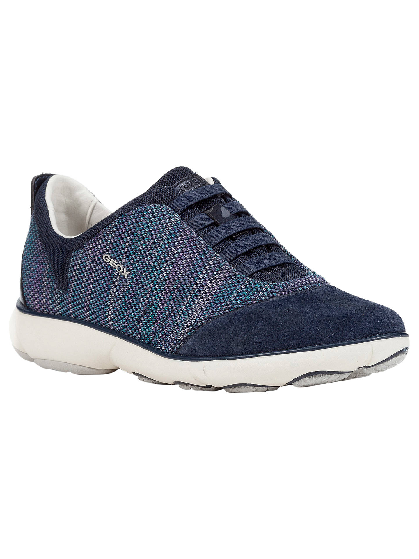 0de242948f2 Buy Geox Women's Nebula Breathable Slip On Trainers, Navy, 3 Online at  johnlewis.