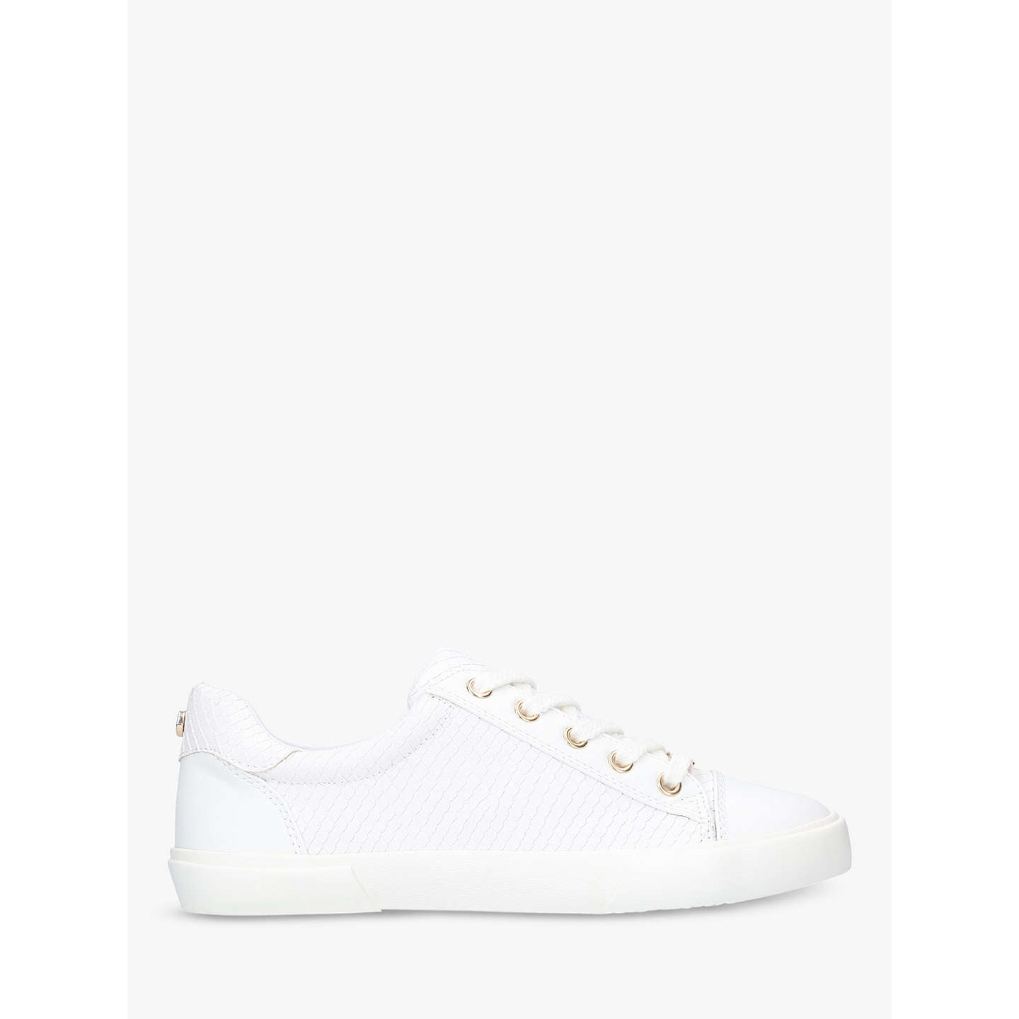 Carvela Light Lace Up Trainers, White, White by Carvela