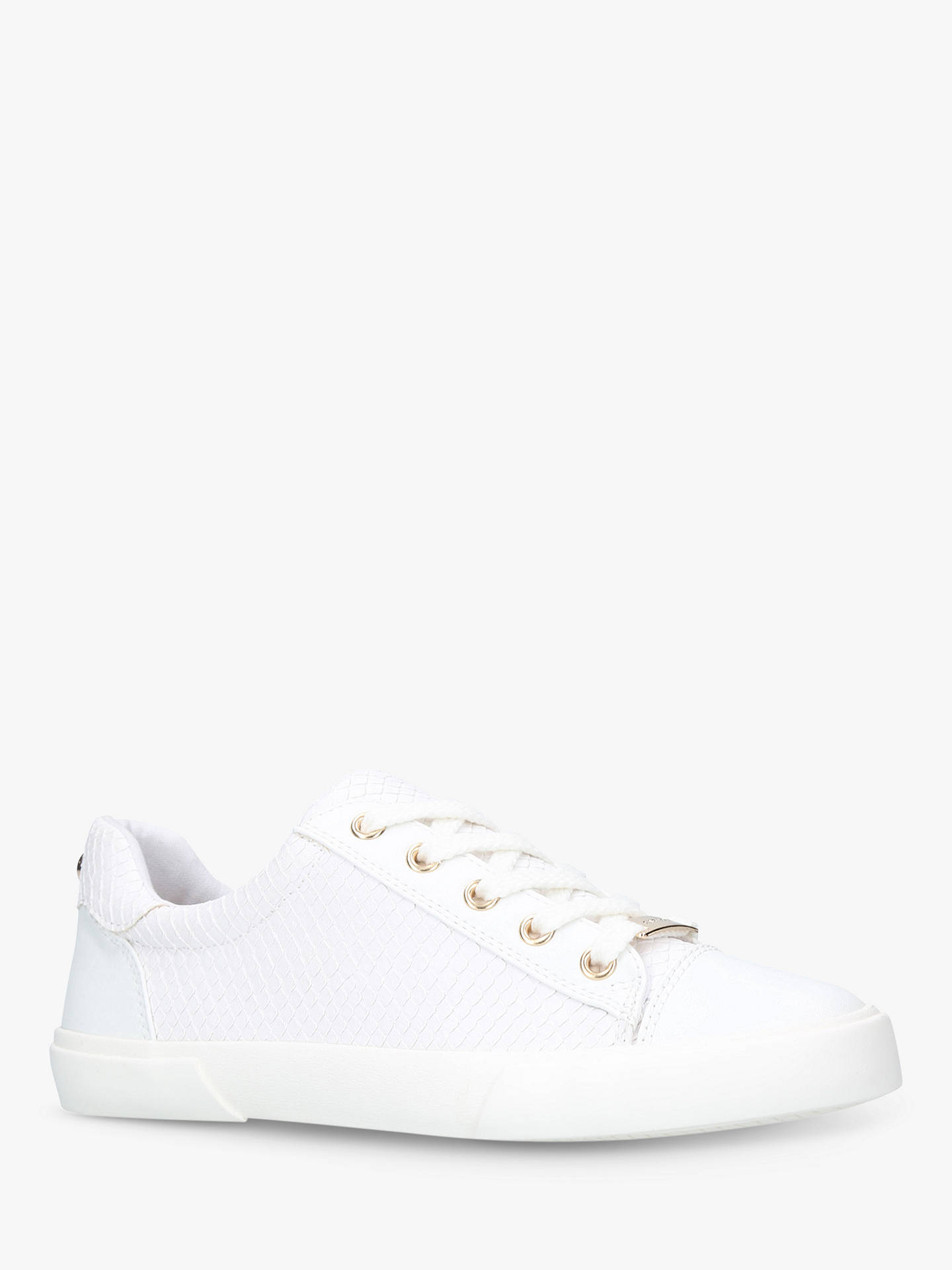BuyCarvela Light Lace Up Trainers, White, 3 Online at johnlewis.com