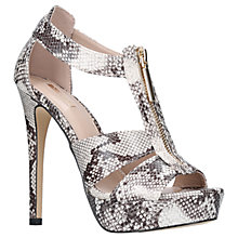 Buy Carvela Girly Stiletto Heel Sandals, Beige Comb Online at johnlewis.com