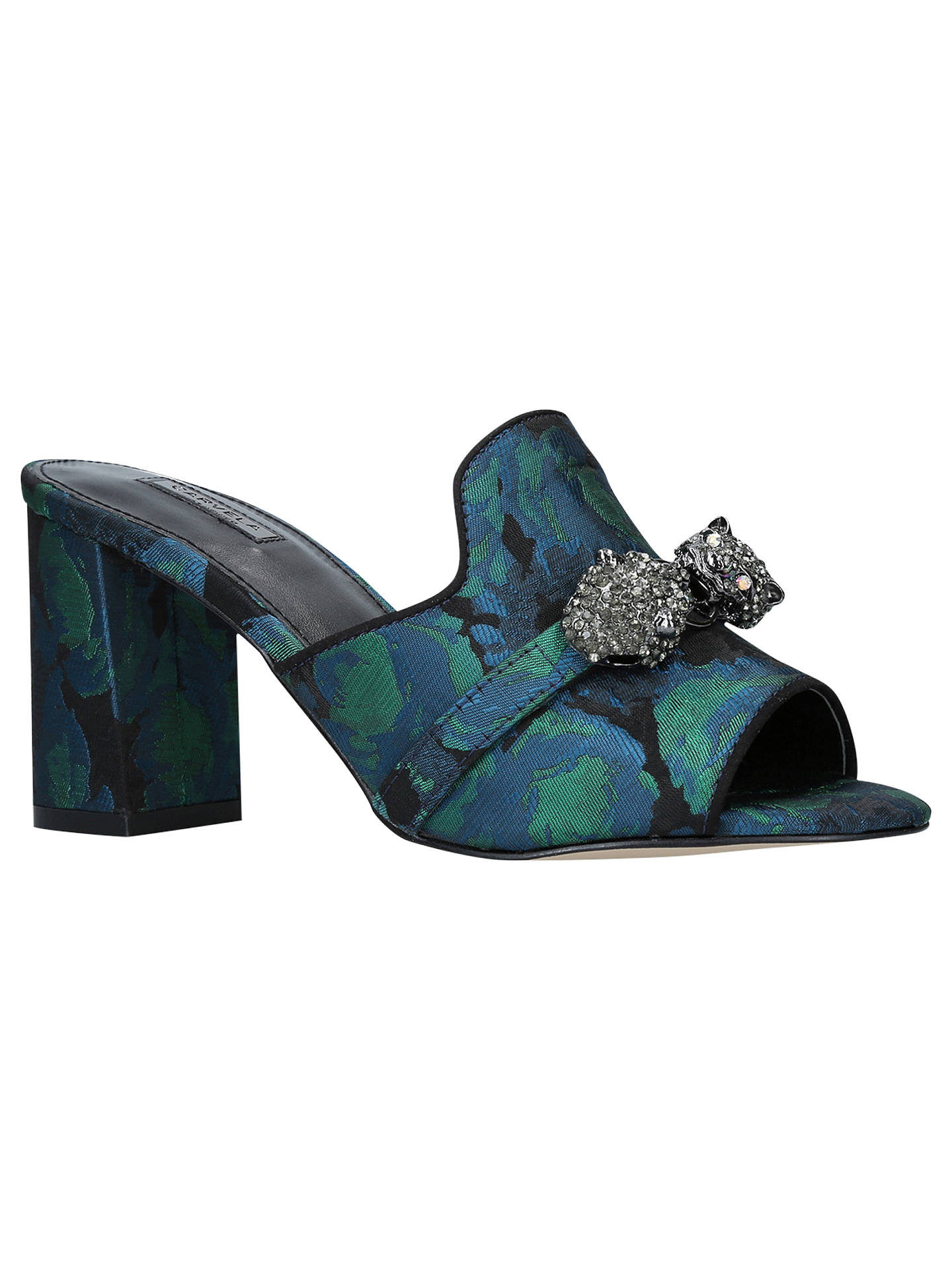 BuyCarvela Growl Block Heel Sandals, Multi/Other, 3 Online at johnlewis.com