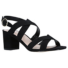Buy Carvela Lust Block Heeled Sandals, Black Online at johnlewis.com