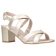 Buy Carvela Lust Block Heeled Sandals, Gold Online at johnlewis.com
