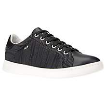 Buy Geox Jaysen Knitted Lace Up Trainers, Black Online at johnlewis.com