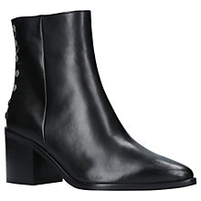 Buy Carvlea Slightly Block Heel Ankle Boots, Black Online at johnlewis.com