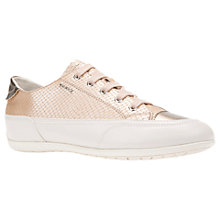 Buy Geox New Moena Lace Up Trainers, Off White/Pink Online at johnlewis.com