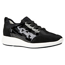 Buy Geox Ophira Lace Up Trainers, Black Online at johnlewis.com