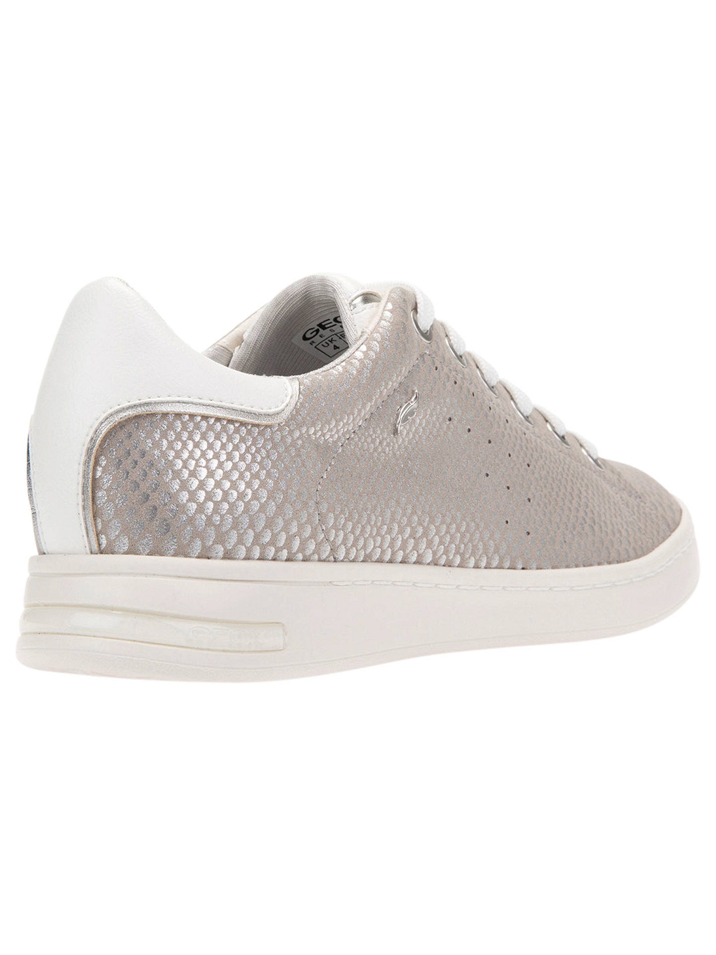 c0abfac60e ... Buy Geox Women's Jaysen Lace Up Trainers, Silver, 5 Online at  johnlewis. ...