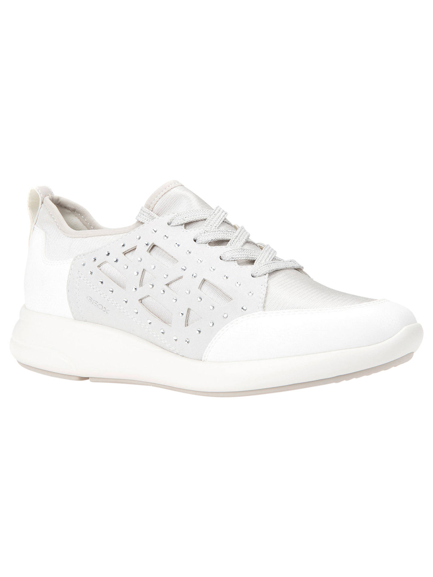 d73e2cceedbb4 Buy Geox Women's Ophira Lace Up Trainers, Off White, 3 Online at johnlewis.