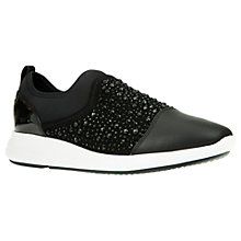 Buy Geox Ophira Breathable Slip On Trainers, Black Online at johnlewis.com