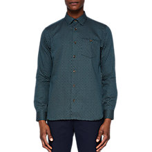 Buy Ted Baker Leafgeo Long Sleeve Printed Shirt Online at johnlewis.com