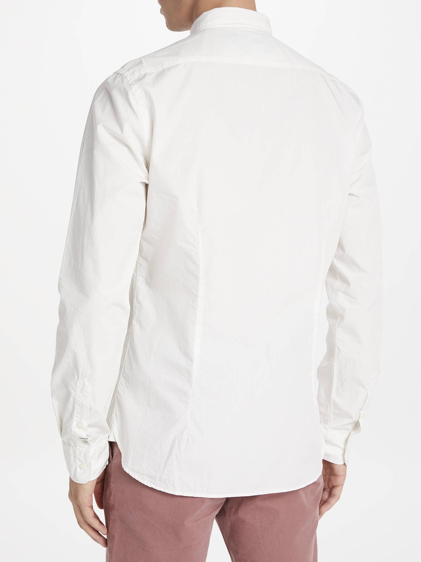 Buy Scotch & Soda Long Sleeve Poplin Shirt, White, S Online at johnlewis.com