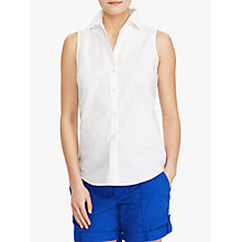 Buy Lauren Ralph Lauren Sleeveless Shirt, White Online at johnlewis.com