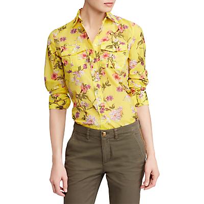 Lauren Ralph Lauren Courtenay Long Sleeve Shirt, Yellow/Multi