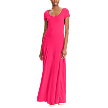 Buy Lauren Ralph Lauren Fadrina Maxi Dress, Pink Poppy Online at johnlewis.com