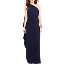 Buy Lauren Ralph Lauren Lisamae Dress, Lighthouse Navy Online at johnlewis.com
