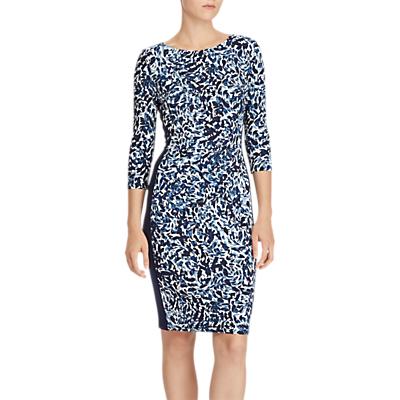 Lauren Ralph Lauren Floral Ruched Jersey Dress, Multi