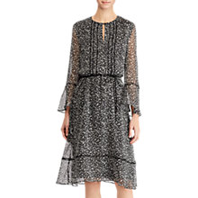 Buy Lauren Ralph Lauren Remenza Long Sleeved Dress, Black/Marscapone Cream Online at johnlewis.com