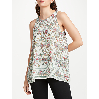 Max Studio Sleeveless Floral Print Top, Ivory