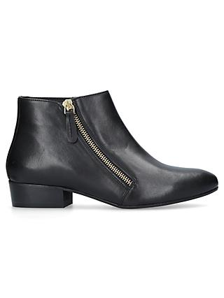 c239b6aca692 Kurt Geiger London Sally Asymmetric Zip Ankle Boots, Black Leather