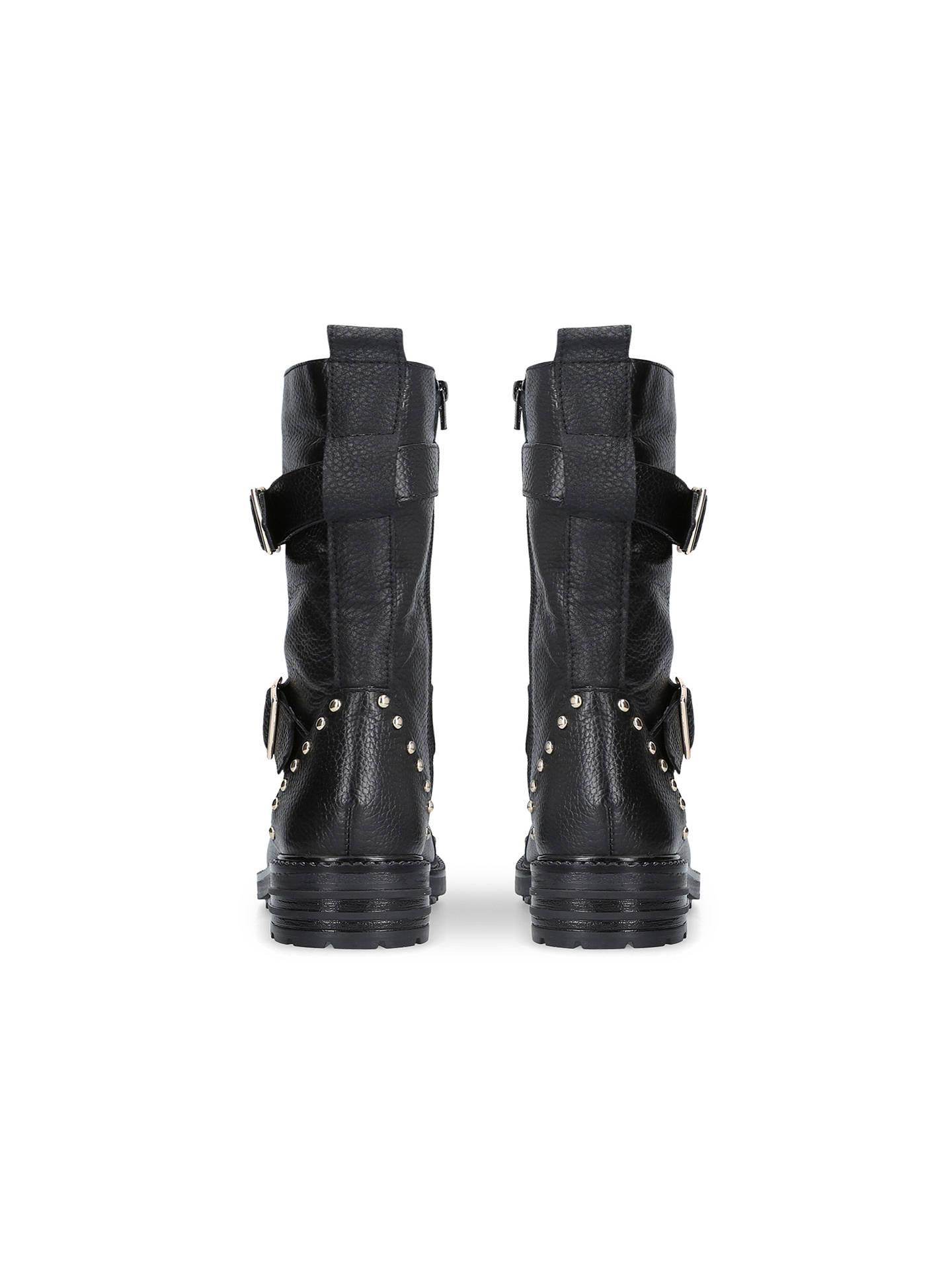 a3dde9d72ca Kurt Geiger London Sting Biker Boots, Black Leather