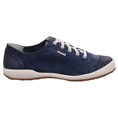 Josef Seibel Caspian 14 Lace Up Plimsolls, Blue Leather