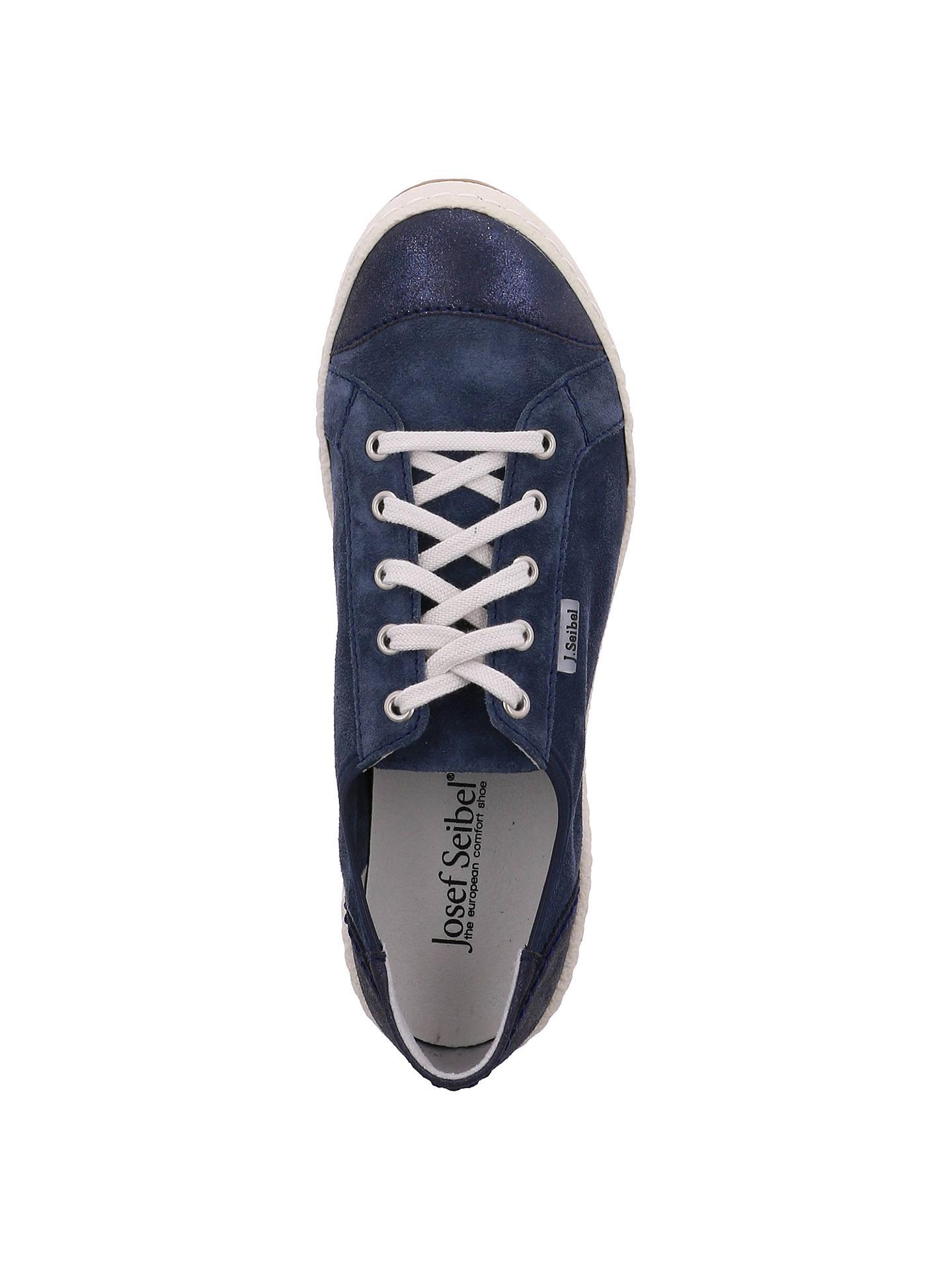 229e3b4c397d3 Josef Seibel Caspian 14 Lace Up Plimsolls, Blue Leather at John ...