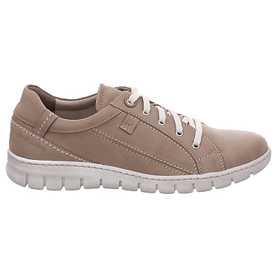 Josef Seibel Steffi 43 Lace Up Trainers, Sand Nubuck