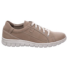 Buy Josef Seibel Steffi 43 Lace Up Trainers, Sand Nubuck Online at johnlewis.com