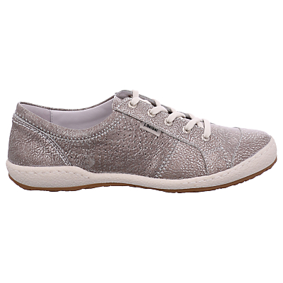 Josef Seibel Caspian Lace Up Plimsolls, Platine Leather