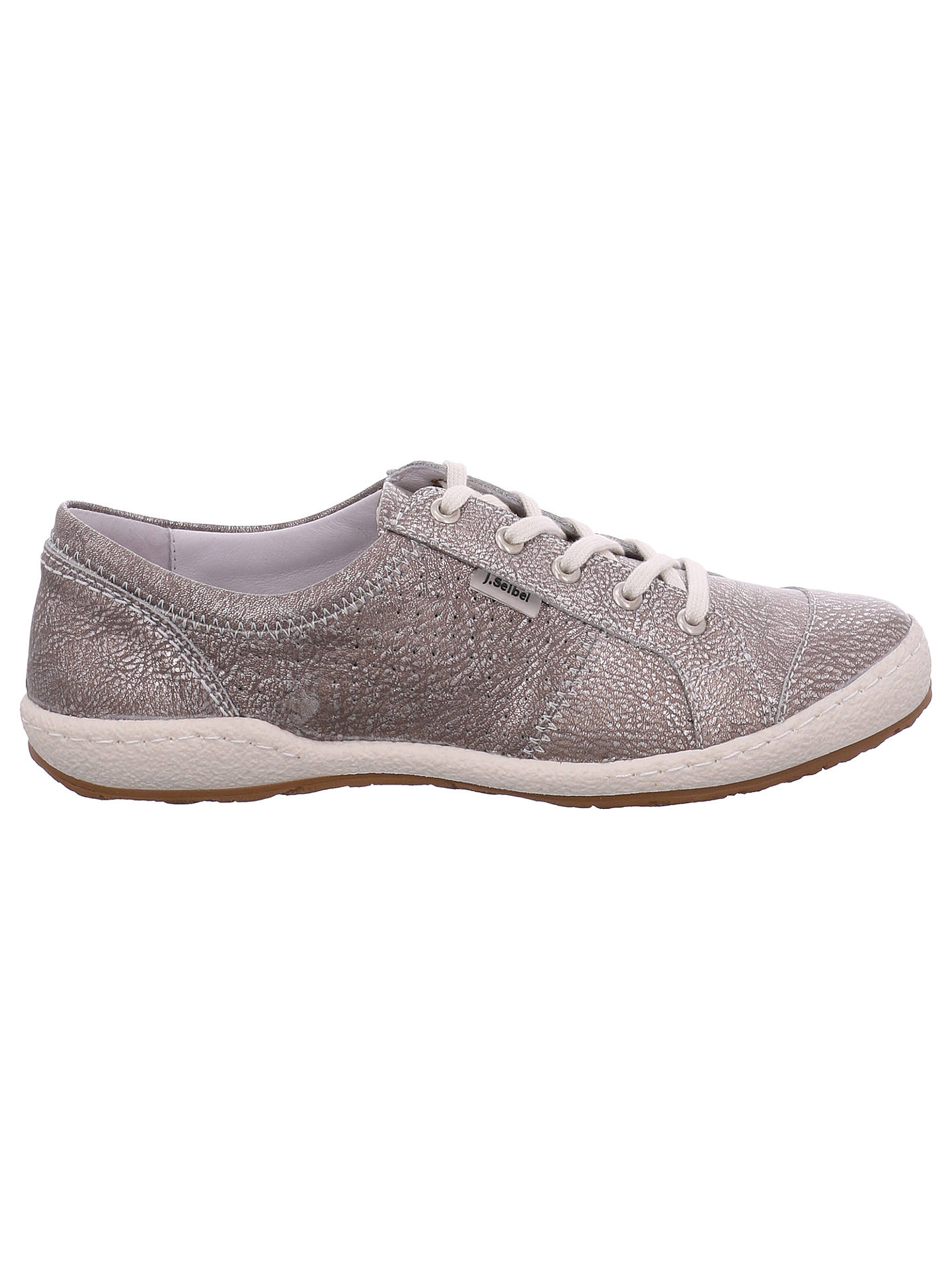 great fit d044b f2296 Josef Seibel Caspian Lace Up Plimsolls, Platine Leather at ...