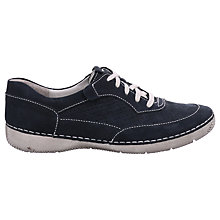 Buy Josef Seibel Antje Lace Up Plimsolls, Blue Nubuck Online at johnlewis.com