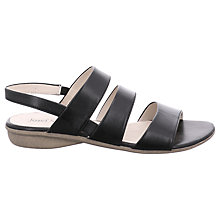 Buy Josef Seibel Fabia 11 Sandals, Black Leather Online at johnlewis.com