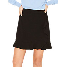 Buy Oasis Ruffle Mini Skirt, Black Online at johnlewis.com
