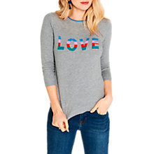 Buy Oasis Rainbow Love Knit Jumper, Mid Grey Online at johnlewis.com