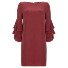 Buy Mint Velvet Ruffle Sleeve Cupro Dress Online at johnlewis.com