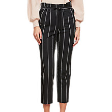 Buy Miss Selfridge Paper Bag Trousers, Black Online at johnlewis.com