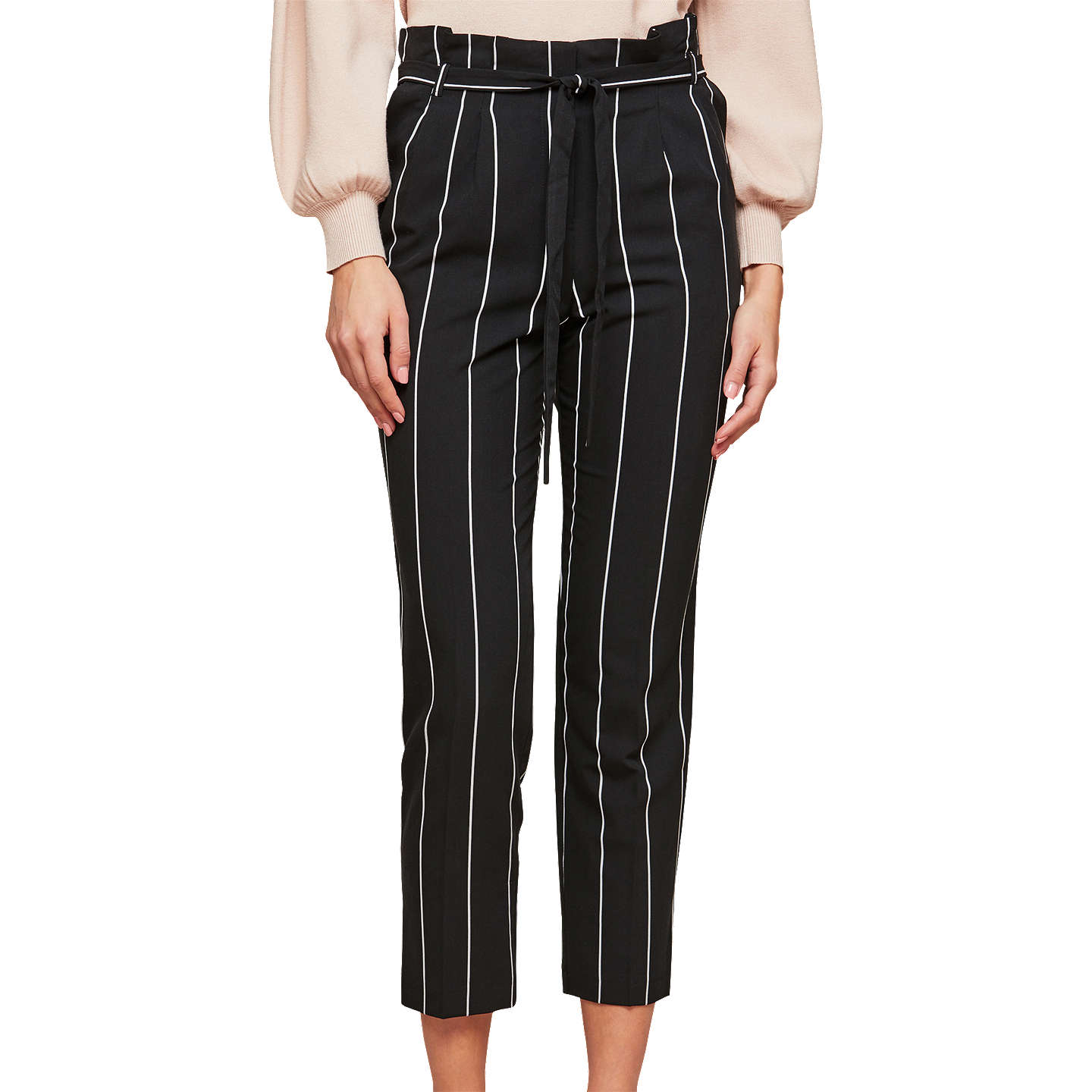 BuyMiss Selfridge Paper Bag Trousers, Black, 6 Online at johnlewis.com