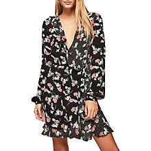 Buy Miss Selfridge Mixed Print Wrap Dress, Multi Online at johnlewis.com