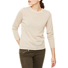 Buy Mint Velvet Metallic Crew Neck Jumper, Cream Online at johnlewis.com