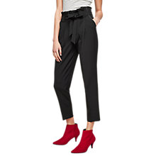 Buy Miss Selfridge Stitch Paper Bag Trousers, Black Online at johnlewis.com