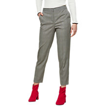 Buy Miss Selfridge Check Cigarette Trousers, Black Online at johnlewis.com